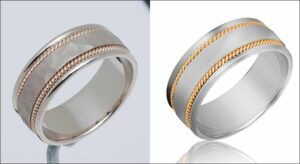 jewelry product retouching -clipandtouch.com
