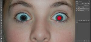 Red eye remove tool