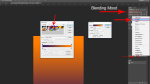 select Gradient Color from Adjustment layer