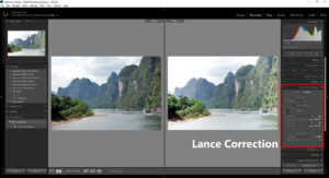 Lance Correction of Adobe Light room