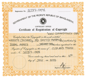 clipandtouch.com copy-right-certificate